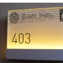 plaque de chambre avec ilumination